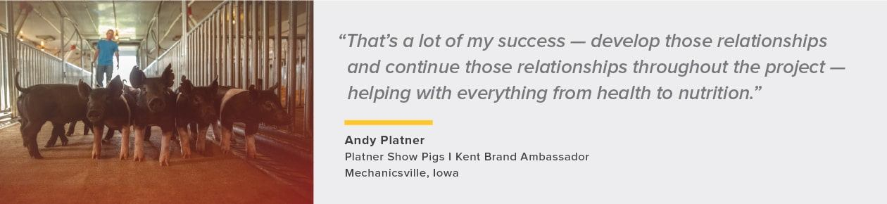 quote about reputation from Andy Platner, Brand Ambassador